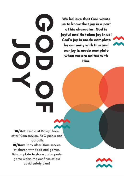 God of Joy Flyer
