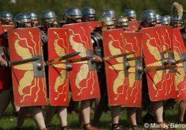 Roman shield wall